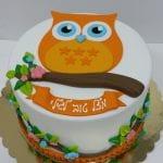 עוגה מבצק סוכר ינשוף