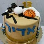 עוגה מעוצבת לבר מצווה כדורסל