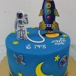 עוגה מעוצבת לילד שאוהב חלליות