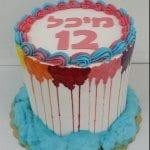 עוגה מבצק סוכר לבת מצווה