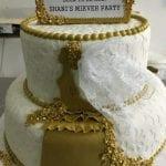 עוגת חתונה לבן וזהב