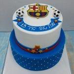 עוגה עם סמל ברצלונה