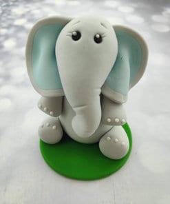 פיל מבצק סוכר אוזניים תכלת