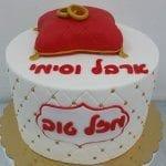 עוגה מבצק סוכר לאירוסין