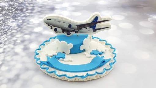 טופר מטוס אכיל מבצק סוכר
