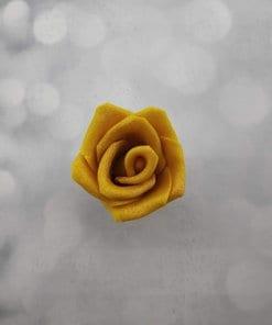ורד מבצק סוכר בצבע זהב